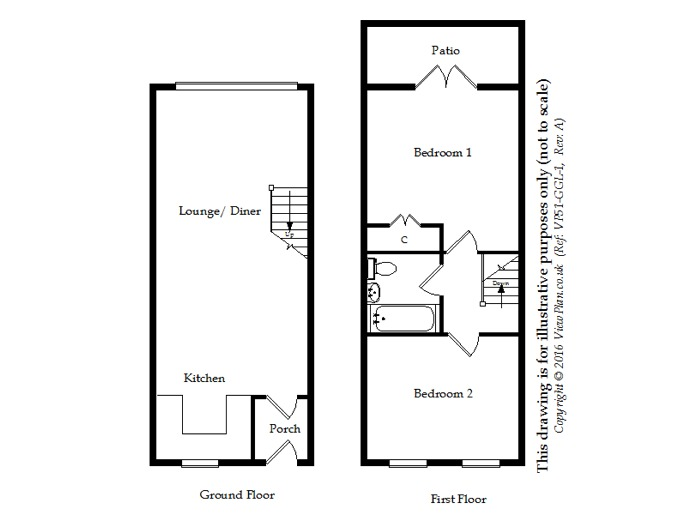 Floorplan of Gwent, Northcliffe, Penarth, CF64 1DY